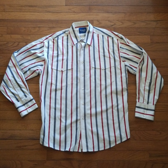 af55313c Vintage Wrangler Western Pearl Snap Shirt XXL? M_5b4e0bd145c8b30104323209